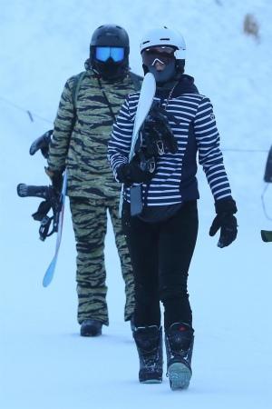 2019年1月2日 Katy Perry 和 Orlando Bloom一同滑雪