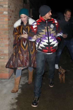 Katy Perry 和 Orlando Bloom 在阿斯潘晚餐