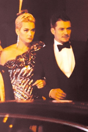Katy Perry 和 Orlando Bloom 参加Beyonce和Jay-Z的 奥斯卡 After Party