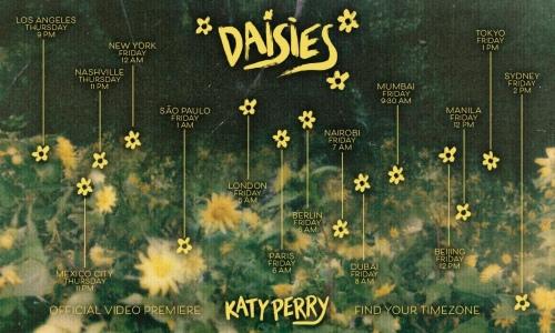 """Katy Perry 公布全球""""Daisies"""" MV首播时间表"""