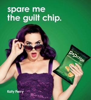 Popchips 广告 平面宣传照