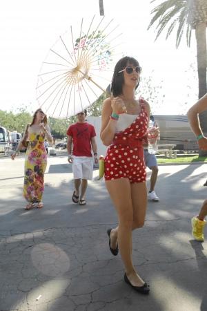 Katy Perry 在Vans Warped Tour 2008 游玩