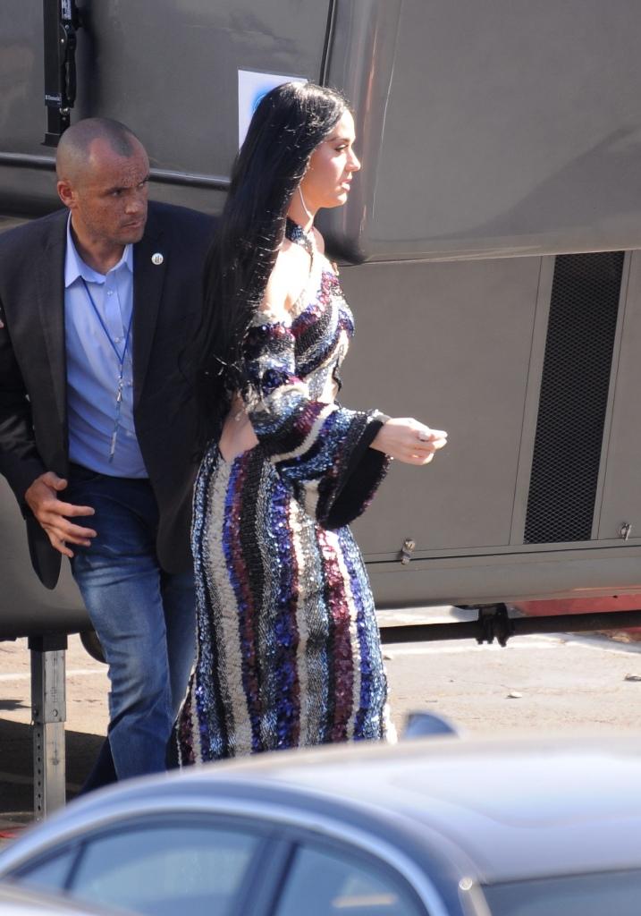 Katy Perry 到达美国偶像节目拍摄现场 - 2018年5月14日街拍